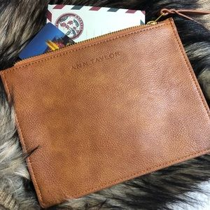 Ann Taylor leather pouch